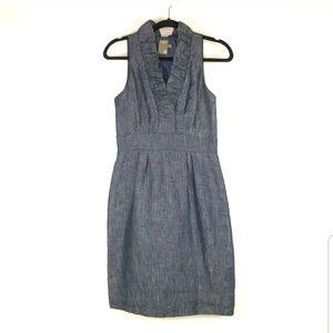Taylor Woman Sz 2 Chambray Denim Sheath Dress
